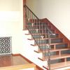 ロートアイアンによる階段の装飾手摺④
