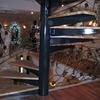 スパイラル階段のロートアイアンによる装飾手摺①