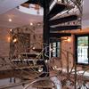 スパイラル階段のロートアイアンによる装飾手摺③
