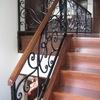 ロートアイアンによる階段の装飾手摺⑬