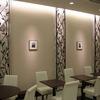 ロートアイアンによる壁面照明装飾