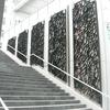 ロートアイアンと色ガラスによるパテーション風のストリートモニュメント①