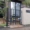 シンプルなデザインのロートアイアンの住宅の門扉①