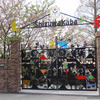 アーチを持つ楽しいデザインの幼稚園の門扉