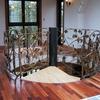 スパイラル階段のロートアイアンによる総飾手摺②