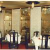 真鍮材を使ったレストランのガラス入りのパテーション①