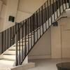直線的なデザインで纏めたロートアイアンの階段手摺②