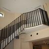 直線的なデザインで纏めたロートアイアンの階段手摺③