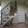ロートアイアンによる階段の装飾手摺⑩