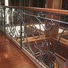 ロートアイアンによる階段とそれに続く水平部の装飾手摺③
