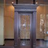ロートアイアンを組み込んだガラス入り扉⑥