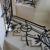 アールデコの雰囲気を求めたロートアイアンの階段手摺り②