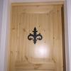 ロートアイアンのドア飾り
