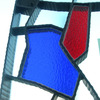 ロートアイアンと色ガラスによるパテーション風のストリートモニュメント④